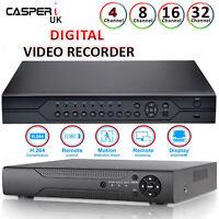 CCTV DVR 4/8/16 Hybrid Channel AHD 1080P Video Recorder HD 1080P VGA HDMI BNC UK