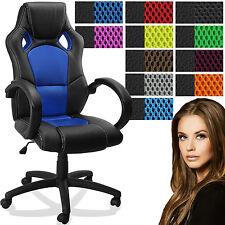 Miganeo® Chefsessel Stuhl Bürostuhl Drehstuhl Schalensitz Büro Sportsitz schwarz