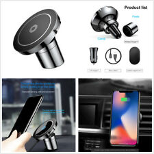 Qi Magnetic Car Mount Holder Wireless Charger Fast Charging For iPhone X 8 HTC