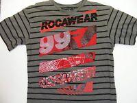 Rocawear Junior's Short Sleeve T-Shirt Size M (10-12) Color Gray 100% Cotton
