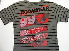 Rocawear Junior's Short Sleeve T-Shirt Size M (10-12) Color Gray 100% Cotton