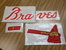 Atlanta Braves 4-Piece Embroidered Jersey Jacket Sweatshirt Patch Set Iron-On