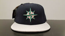 Vintage 90s Seattle Mariners Silver Bill New Era Diamond Collection Hat NWT USA