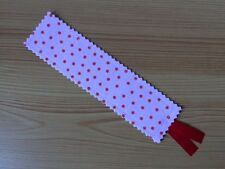 ** Cath Kidston Rosali Pink Spot Fabric - Handcrafted Bookmark **