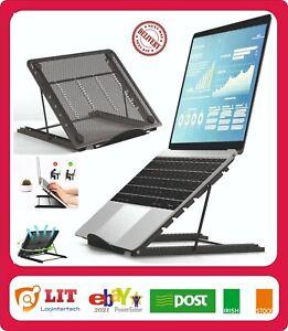 Adjustable Laptop Stand Folding Portable Mesh Desktop Tablet Holder Office Suppo
