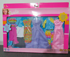 NRFB Barbie 6 Fashion Gift Pack 2002- 6 tenue/habits Complete Outfit 1 #68073