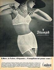 PUBLICITE ADVERTISING 015  1965  TRIUMPH  soutien gorge Gaine  COMPLIMENT