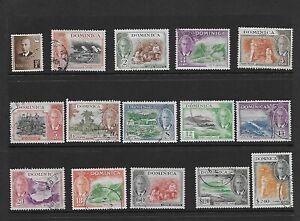 Dominica 1951 set G/FU