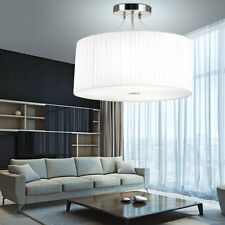 Design Hänge Lampe Schlaf Wohn Zimmer Beleuchtung Textil Decken Leuchte weiß