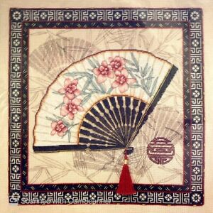 """DIMENSIONS """"Oriental Fan"""" Counted Cross Stitch Kit **REDUCED**"""