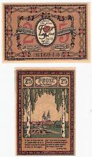 Germania 25 Pfennig 1921 NOTGELD frose UNC FIOR delle banconote