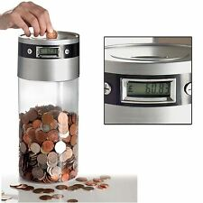 Supersize Oversize Digital LCD Coin Bank Money Saving Box Piggy Jumbo Jar New