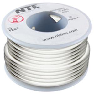 NTE Electronics WT18-09-100 WIRE TEFLON 18 GAUGE WHITE 100'