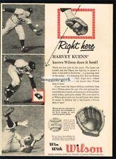1959 WILSON Baseball Glove HARVEY KUENN Detroit Tigers VTG PRINT AD