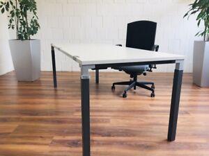 Steelcase Schreibtisch 200x80 grau schwarz