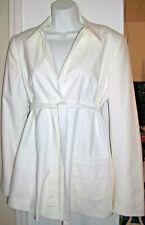 NEW A Pea in the Pod Maternity Jacket Coat Blazer L $225 NWT Versatile White Lrg