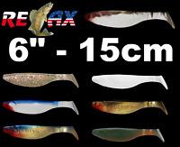"KOPYTO SHAD 6"" 15cm Soft Plastic Bait Jig Heads Lure Pike Perch Sea Cod Fishing"
