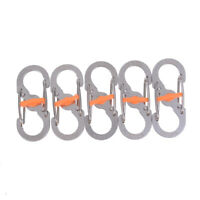 8 Word Buckle Locking Carabiner Anti-lost Keychain Outdoor Camping EquipmentYE