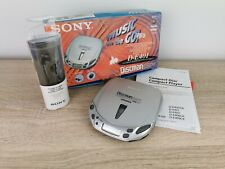 Sony Discman D-E401 tragbarer CD-Player Silber   voll funktionstüchtig, Vintage