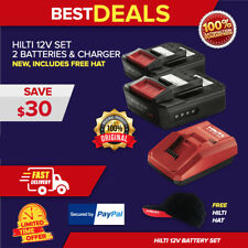 Hilti C 412 50 Charger Amp 2 Pack B12 26 Batteries New Free Hat Fast Ship