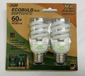 Feit Electric Ecobulb Plus Spiral Light Bulb Soft White 60W Extra Small