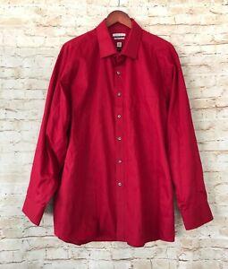 Van Heusen Men's Regular Fit Flex Collar Dress Shirt - Red - 18.5 34/35