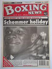 Boxing News 14 Oct 1994 Eubank JonJo Irwin Paul Burke Michael Armstrong
