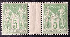 Timbre France, n°102, 5c vert, xx, TB, cote 120e.