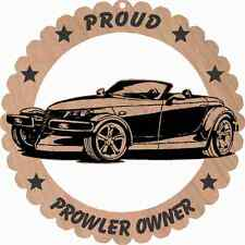 Chrysler/Plymouth Prowler Large Wood Ornament Laser Engraved 5 3/4 Inches Round