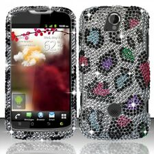 T-Mobile Huawei myTouch Q U8730 Crystal BLING Case Phone Cover Rainbow Leopard
