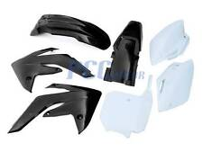 BLACK PLASTIC KIT HONDA CRF150R 150 07-13 FENDER SHROUD NUMBER PLATES 7PC M PS68