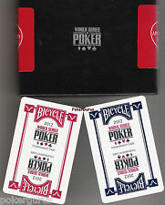 TWO SETS.....2011 NEW WSOP® Playing Cards Kem & 2012 USED WSOP® Playing Cards