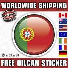 autocollants pour disque Portugal drapeau 2 x 55mm, 55mm de diamètre