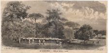 1866 Le caccie reali San Leucio  xilografia da Emporio pittoresco