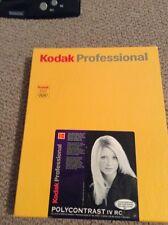 KODAK PROFESSIONAL POLYCONTRAST IV RC - B&W negative paper resin coated smooth g