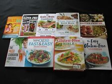 Lot of 9 Great Gluten Free, Paleo and Whole 30 Cookbooks, Baking, Meals, Kids