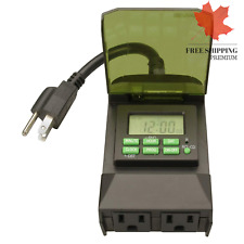 Woods 50014 Outdoor 7-Day Digital Outlet Timer 🇨🇦 FAST & FREE