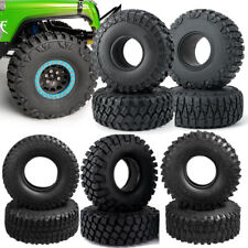 "1.9"" 2.2"" Wheel Rubber Rim Tire For 1:10 RC Crawler Car Axial SCX10 Traxxas TRX4"