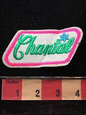 First Name Green Letter CHANTAL Vintage Uniform Name Badge Patch 72X3