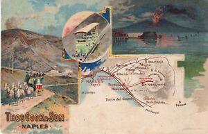 Napoli - Vulcano Vesuvio - Thos Cook & Son - Timbro e francobollo