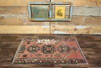 "2'7"" x 4'5"" Ft Handmade Turkish Vintage Oushak Rug, Short Runner, Handmade Rug"