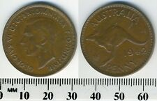 Australia 1942 (p) - 1 Penny Bronze Coin - King George VI - WWII - Mint ERRORS