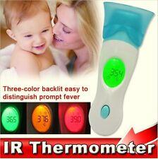 4 En 1 Oreja termómetro Ir Infrarrojo Digital Lcd In-ear Temperatura + base T2