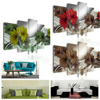 Modern Canvas Oil Painting Wall Hanging Picture Flower Pattern Living Room Decor
