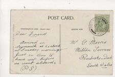 Mr G Morris Milton Terrace Pembroke Dock 1907 479b