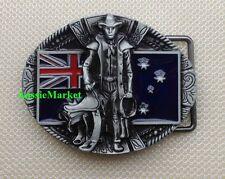 1 x mens belt buckle australian flag stockman rodeo cowboy farmer saddle jeans