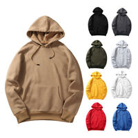 Men Winter Casual Hoodie Warm Pullover Fleece Sweatshirt Hooded Coat Sweater Top