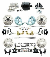 """Black Powder Coated Front & Rear Disc Kit, 8"""" Dual pc Booster Conversion Kit"""