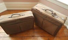 Pierre Cardin Luggage-2 pieces-Brown Pebble Suede -Suitcases
