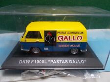 ALTAYA RBA AGOSTINI DIE CAST DKW F1000L PASTAS GALLO VAN  BOXED 1:43 AS NEW